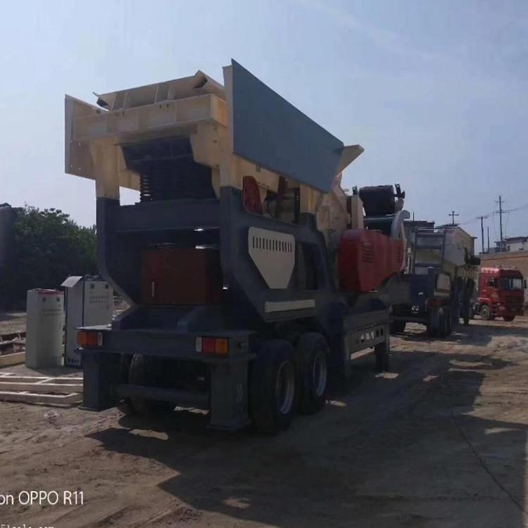 拆迁混凝土水泥块碎石机 移动反击式破碎机现货供应838722232