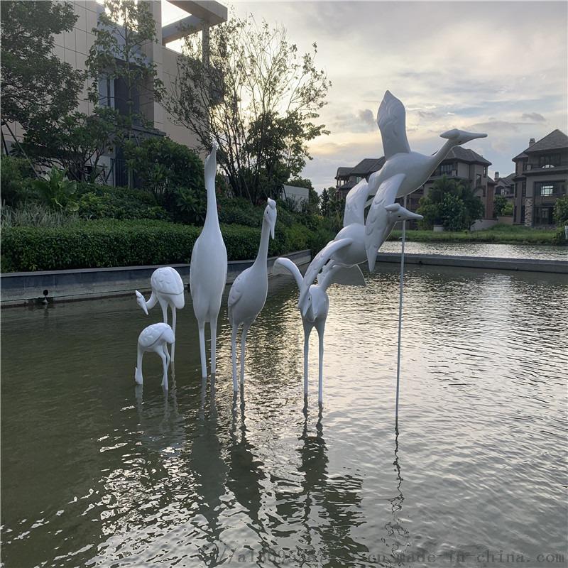 供应中山雅居乐仙鹤雕塑 玻璃钢动物造型雕塑864573355