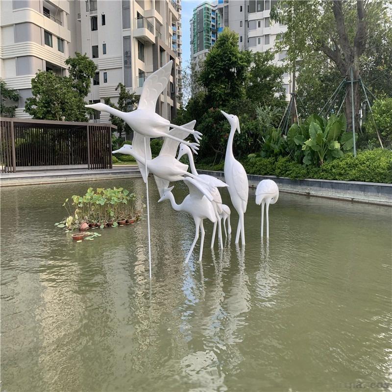 供应中山雅居乐仙鹤雕塑 玻璃钢动物造型雕塑118670395