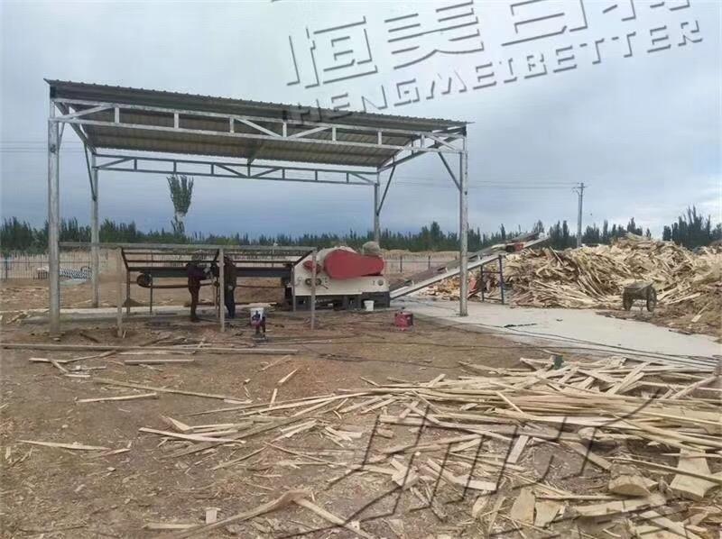 木材切片机 板材树枝削片机 恒美百特破碎机850507522