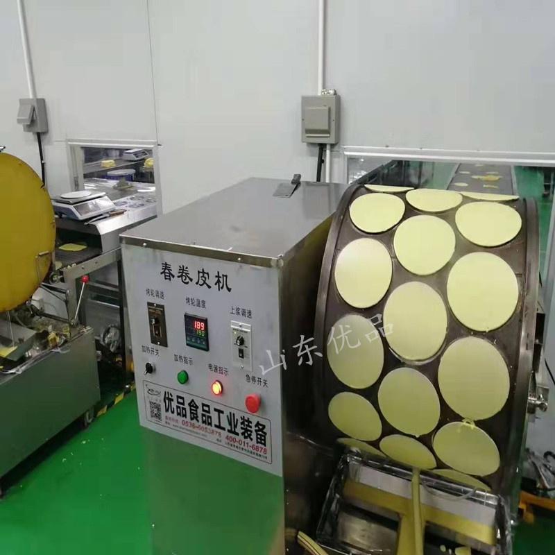 山东  榴莲千层饼设备、烤鸭卷机、春卷机121618782