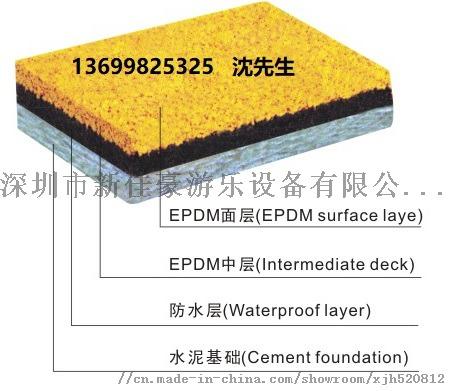 深圳彩色安全地垫,户外现浇EDPM橡胶安全地垫厂家123502435