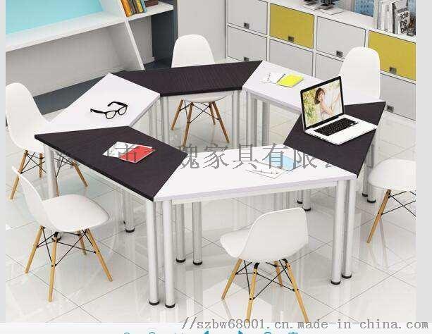 梯形书桌椅拼接梯形培训桌**组合课桌椅124365835