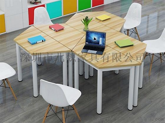 广东梯形洽谈培训桌组合拼接简约现代培训桌876216065