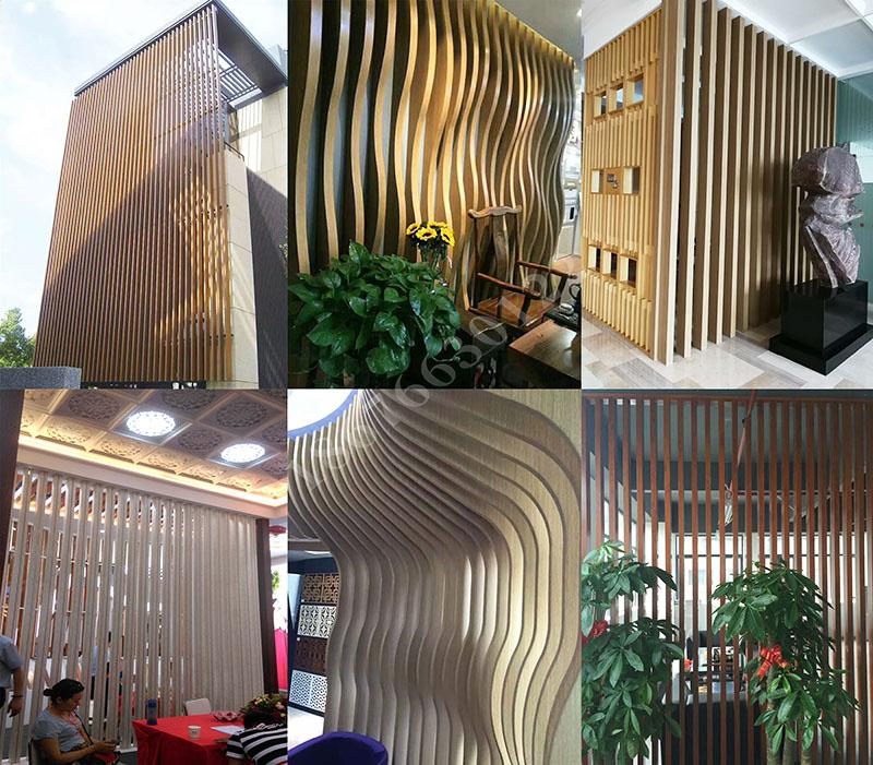 專業生產氟碳噴塗烤漆木紋門頭鋁方通72263725