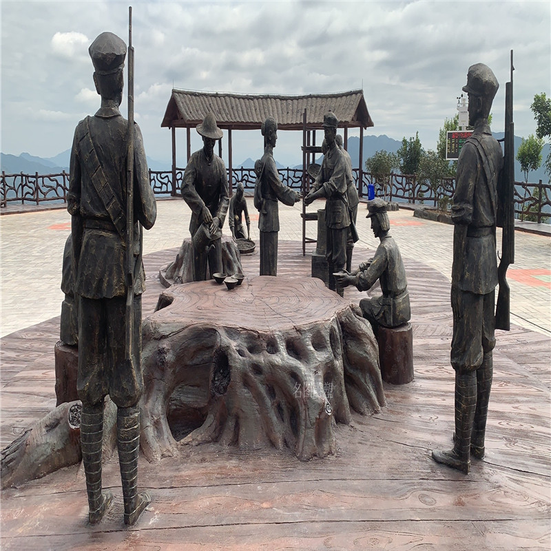 梅州玻璃钢红色主题雕塑打造爱国主题仿铜人物雕塑885231665