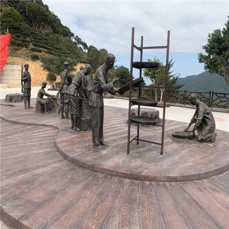 梅州玻璃钢红色主题雕塑打造爱国主题仿铜人物雕塑128591205