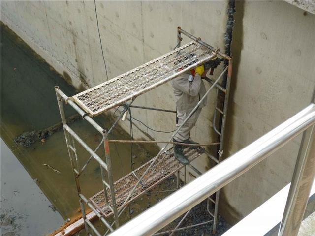 吉安污水處理廠沉澱池施工縫滲漏水處理堵漏878668375