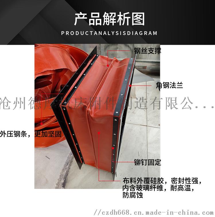 涂布机 印刷机 复合机专用防震软接头伸缩式风筒127183712
