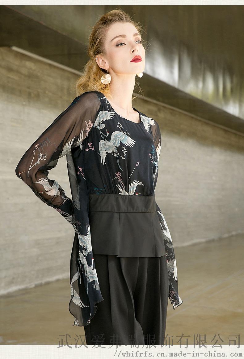 卡丹美思2020春五分袖宽松中长款裙子服装进货渠道893546015