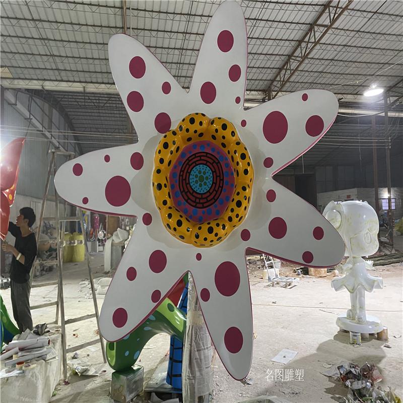 户外玻璃钢植物雕塑 佛山玻璃钢彩绘花朵雕塑897479055