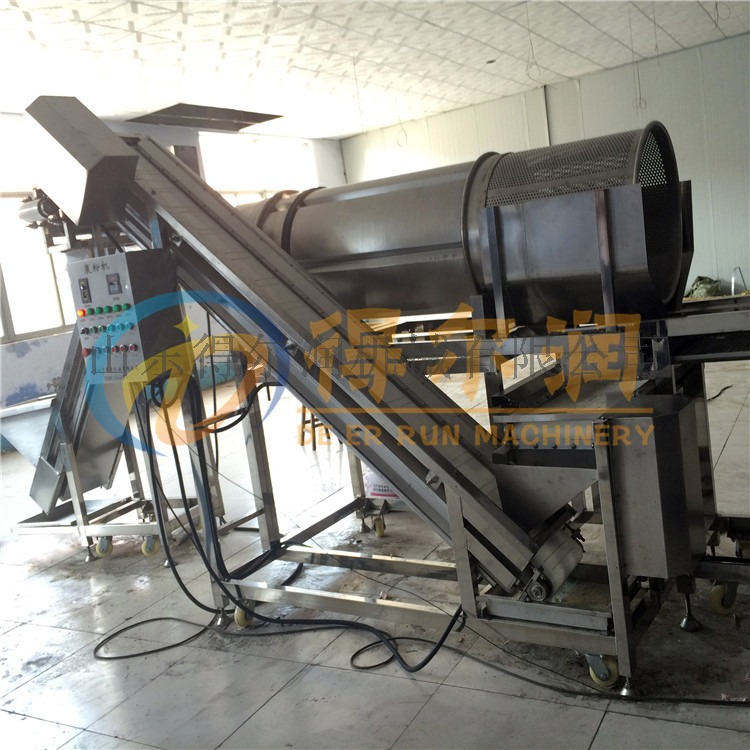 糯米滋裹屑生产线 裹芝麻机 滚筒式裹糠机797104922