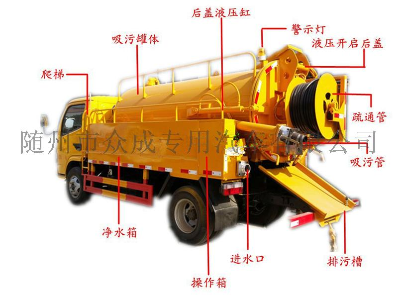 国六新款清洗吸污车管道疏通车厂家直销134833255