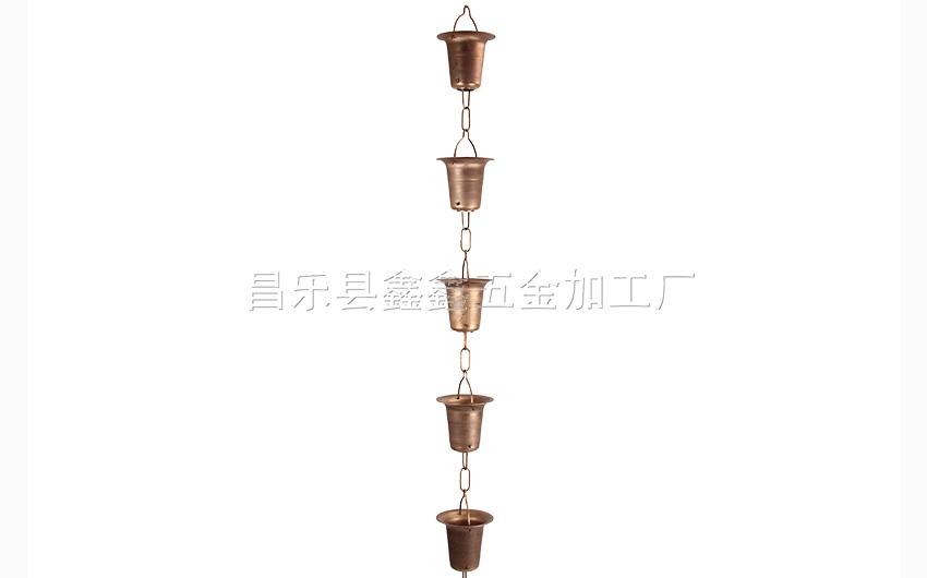 厂家供应纯铜日式雨链 排水链装饰雨链135785172