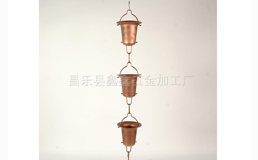 厂家供应纯铜日式雨链 排水链装饰雨链135785182