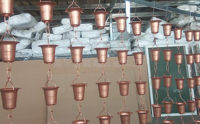 厂家供应纯铜日式雨链 排水链装饰雨链135785202