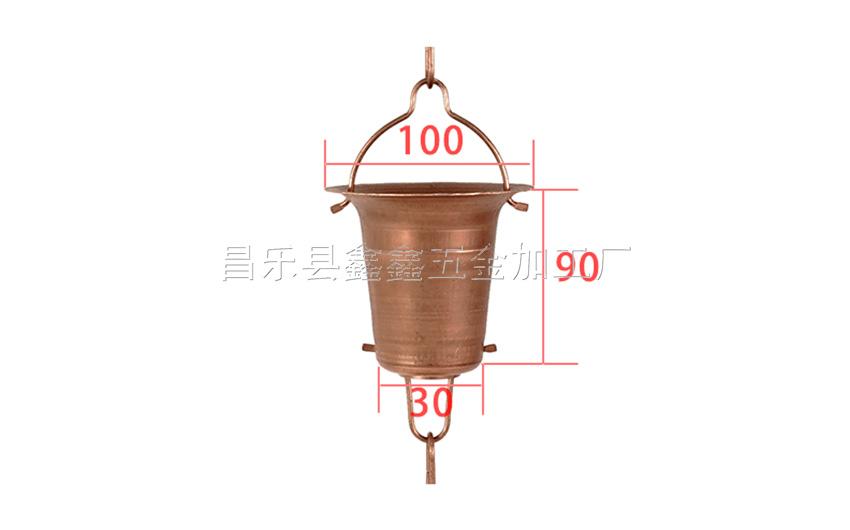 厂家供应纯铜日式雨链 排水链装饰雨链135786572