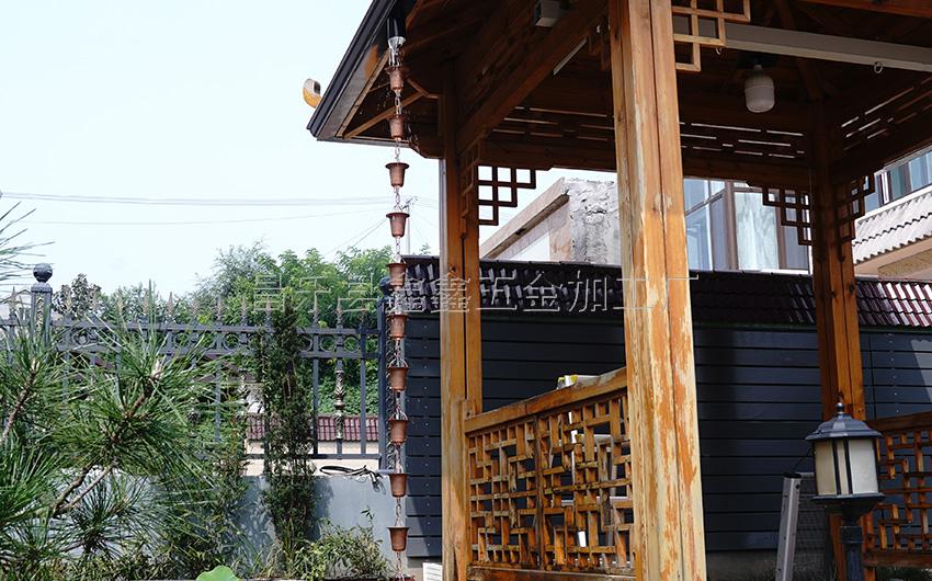 厂家供应纯铜日式雨链 排水链装饰雨链135786602