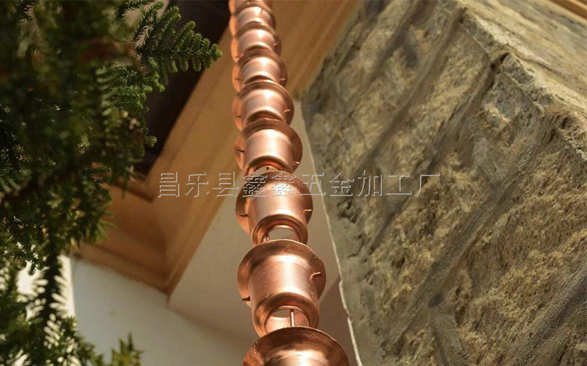 厂家供应纯铜日式雨链 排水链装饰雨链135786612