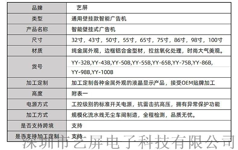 云南厂家直销65寸壁挂安卓网络版广告机显示屏135856252