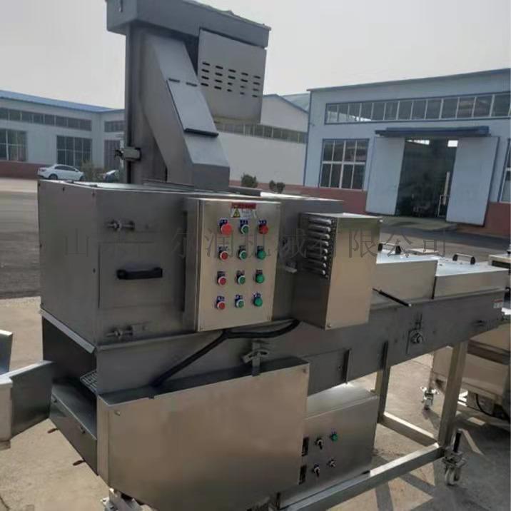 量产咔兹脆鸡排裹粉机 大鸡排挂浆裹粉生产线136995992