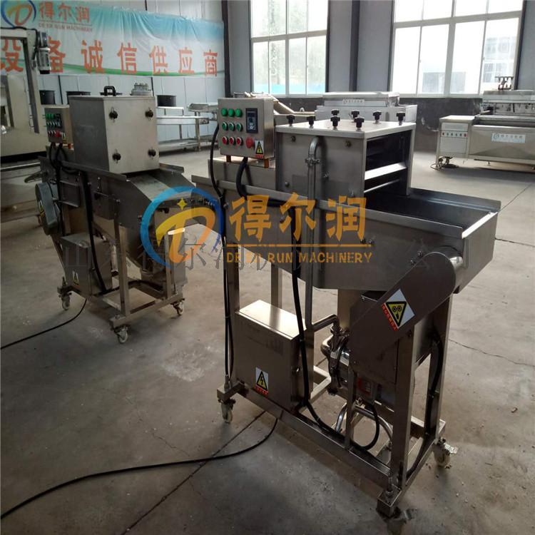 自动裹糠设备 食品裹面包屑雪花片机器52835032