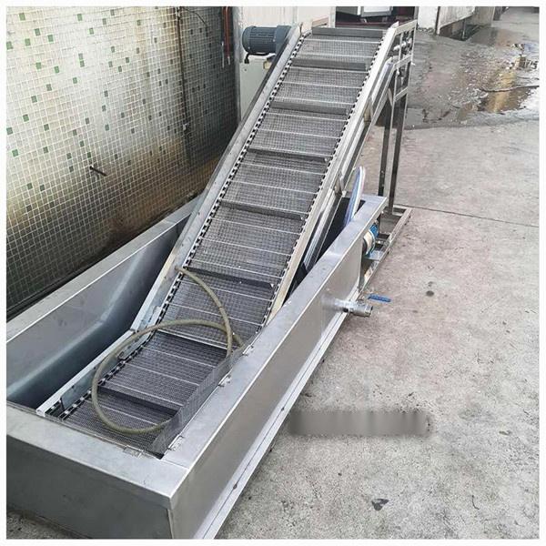注塑机冷却爬坡输送设备,厂家直销爬坡输送机设备128141405