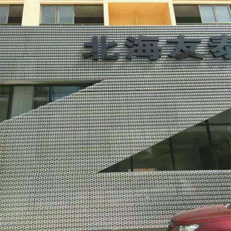 外墙装饰冲孔铝板网-长城4s店外墙装饰网韵味十足137778442