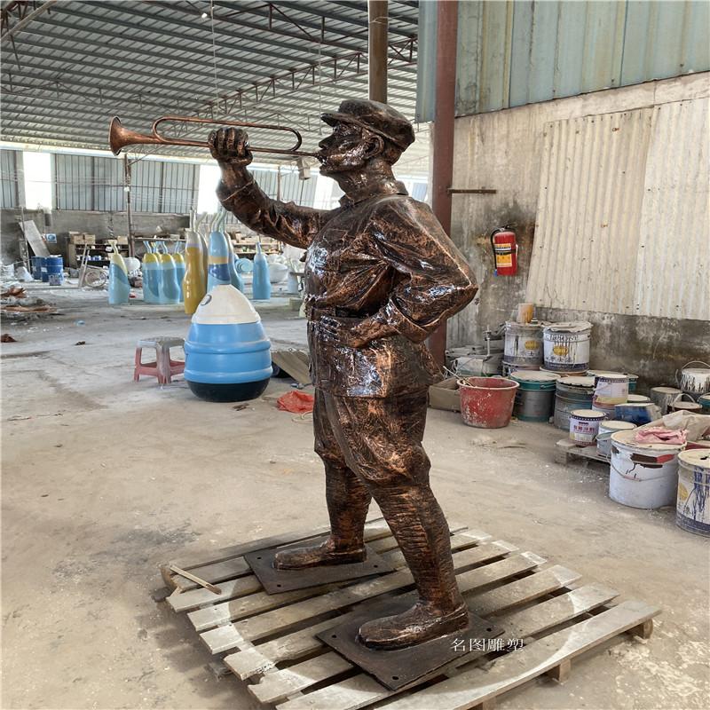 肇庆玻璃钢**雕塑定制 红色主题人物雕塑138054465