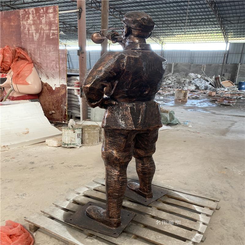 肇庆玻璃钢**雕塑定制 红色主题人物雕塑138054455