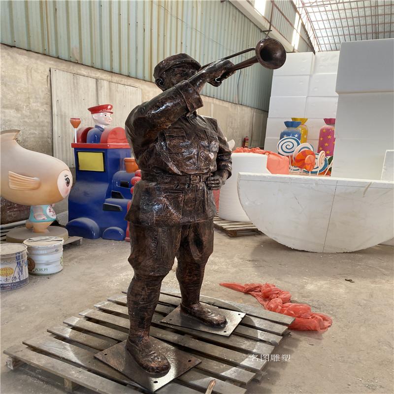 肇庆玻璃钢**雕塑定制 红色主题人物雕塑909444735