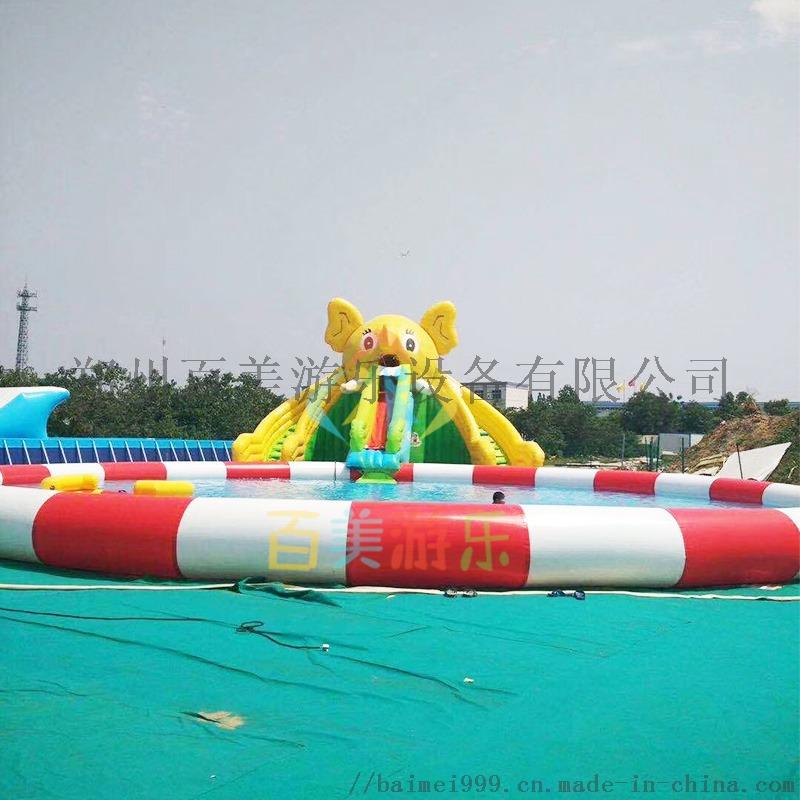 大象水滑梯加红色充气游泳池.jpg