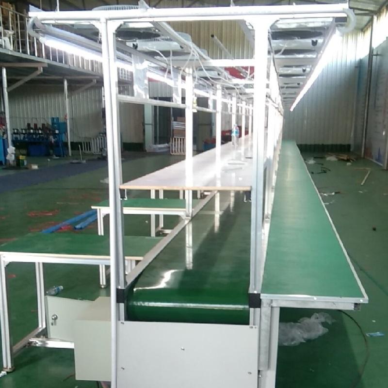 电子厂飞机式流水线 长条台流水线 工业皮带输送线874104502