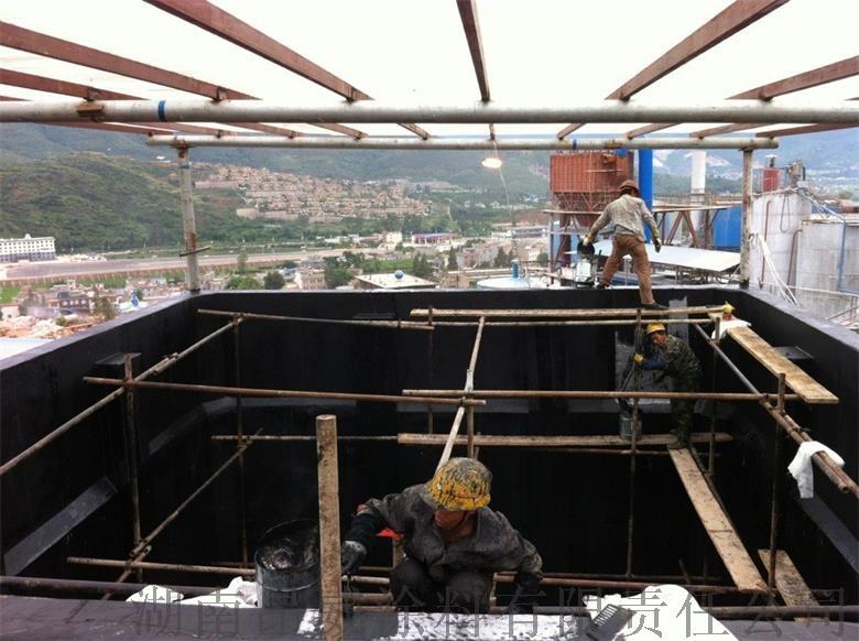 富民瑞呈饲料添加剂有限公司稀酸储槽环氧玻璃钢防腐工程