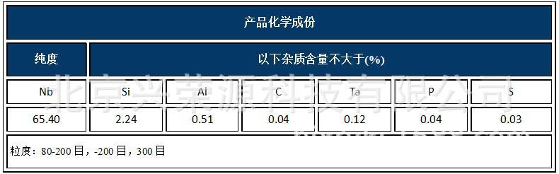 焊材铌铁粉hxcf