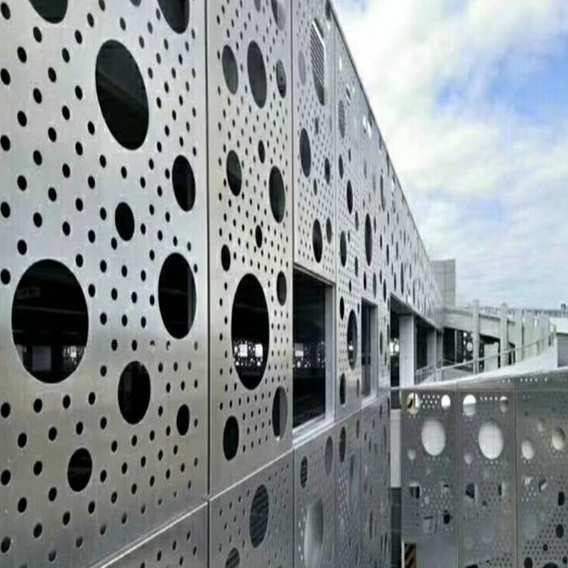 外墙穿孔铝板装饰网优美的金属线条137911692