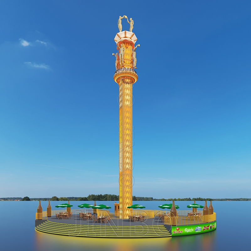 戶外遊樂園設施 76米旋轉塔跳樓機 高空升降飛梭913931055