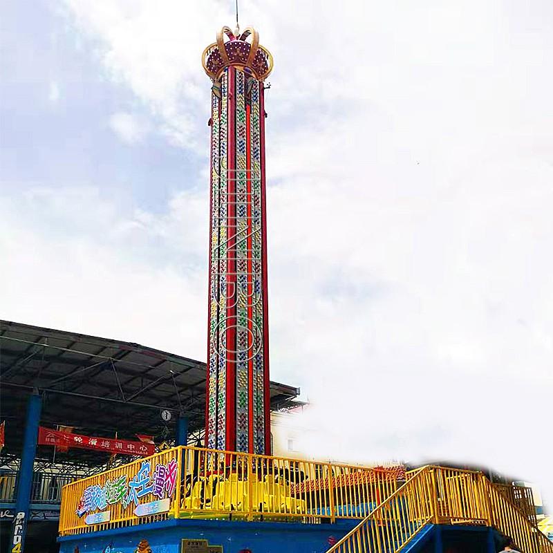 戶外遊樂園設施 76米旋轉塔跳樓機 高空升降飛梭913931025
