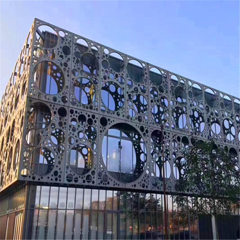 穿孔造型铝板 门头冲孔铝单板时尚简约138143482
