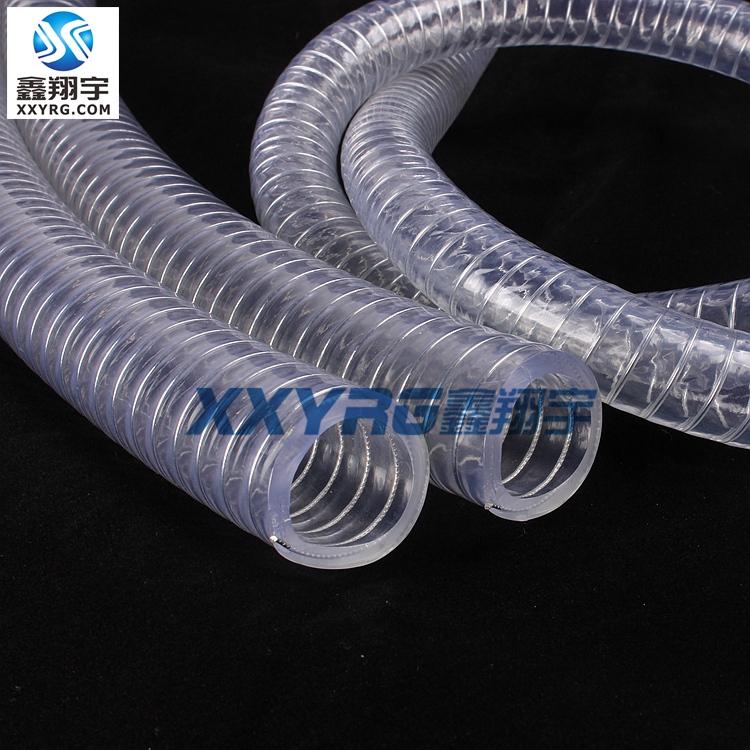 PVC透明钢丝增强软管耐高压耐油耐酸碱吸污排水管892338065