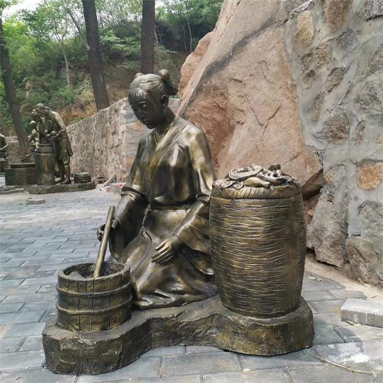 玻璃钢渔夫人物雕塑 公园情景小品打鱼人雕塑146526655