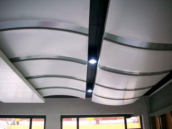 铝单板吊顶展示(弧形冲孔)