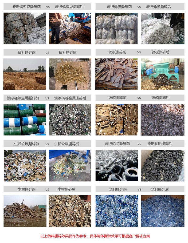 供应秸秆稻草捆撕碎机 薄膜管材撕裂机 吨包袋撕碎机148800555
