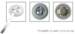 纽扣 卧式电池焊接、耐高温引脚镀金激光焊接130550662