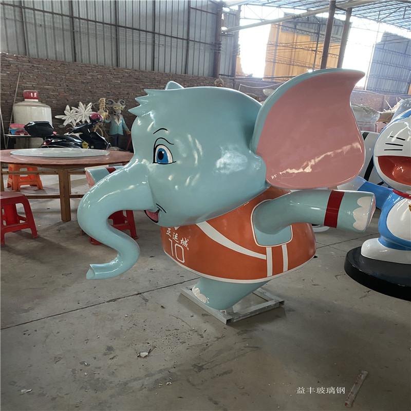 广州玻璃钢卡通雕塑厂家 吉祥物卡通公仔雕塑摆件951632015