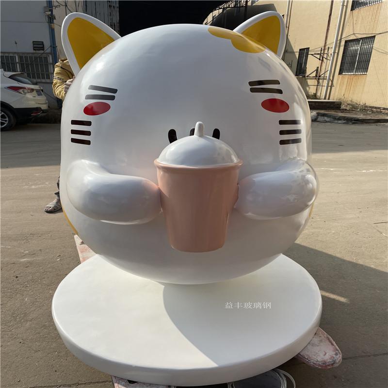 玻璃钢小猫雕塑 商业街卡通雕塑美陈954840315