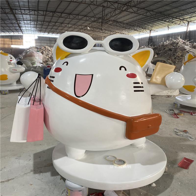 玻璃钢小猫雕塑 商业街卡通雕塑美陈954840275