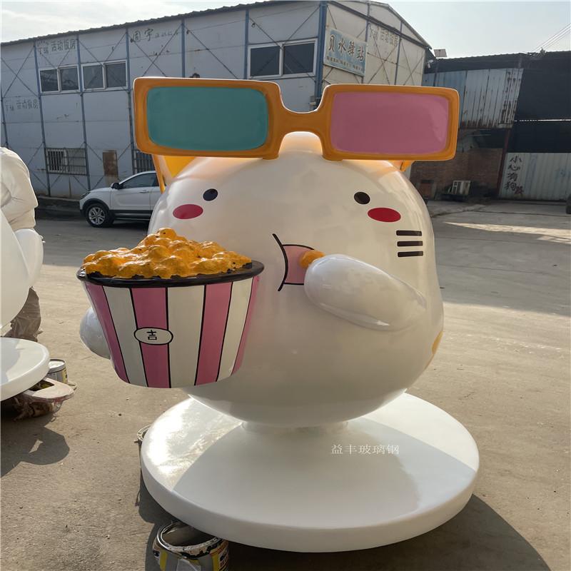 玻璃钢小猫雕塑 商业街卡通雕塑美陈954840295