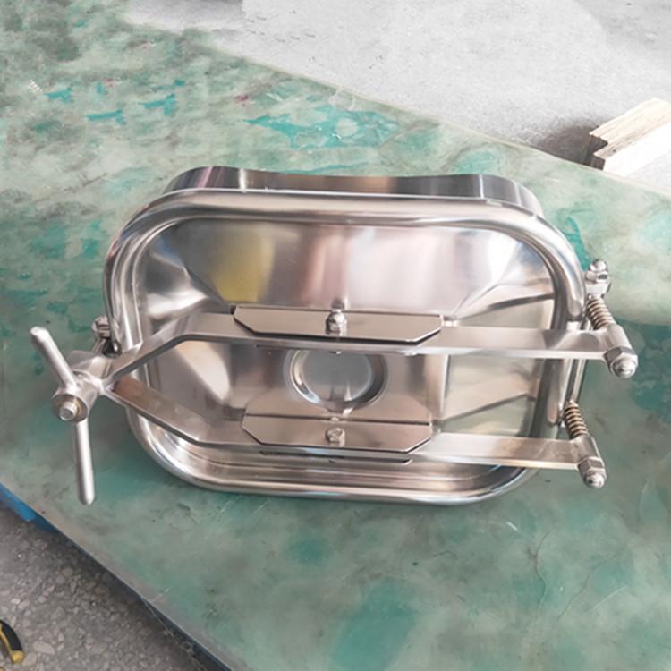 卫生级方形手孔 不锈钢方形手孔 快开方形手孔157696785