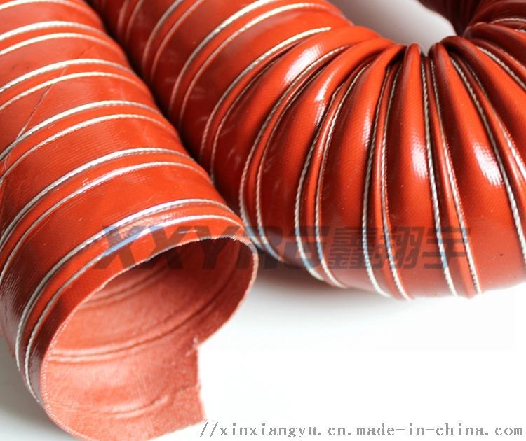 红色耐高温除湿干燥机通风排气软管 耐热耐高温风管157707865